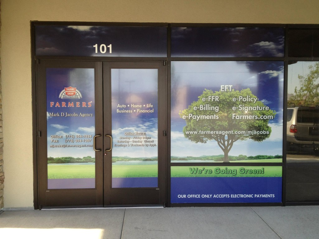 Window graphics exterior signs reno signs reno for Window design 4 by 4
