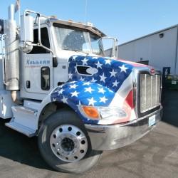 American Flag Wrap, Custom Truck Wrap