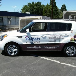Cap Vehicle Wrap, Senior Helper