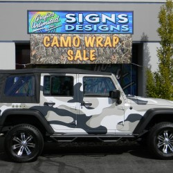 Car Wrap, Camoflouge Wrap