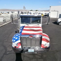 Custom Truck Wrap, American Flag
