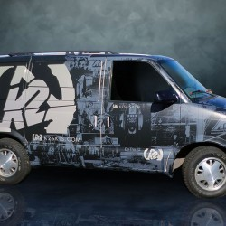 K2 Custom Wrapped Van