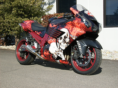 Tips on Installing Custom Motorcycle Graphics