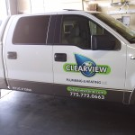 Grafics Unlimited, Clearview Plumbing & Heating truck graphics