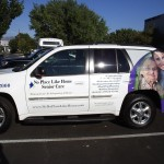 Grafics Unlimited, No Place Like Home Senior Care SUV wrap