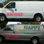 Grafics Unlimited, before and after Happy heating and air