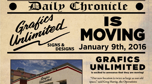 Grafics Unlimited Moved To 1002 C Street in Sparks