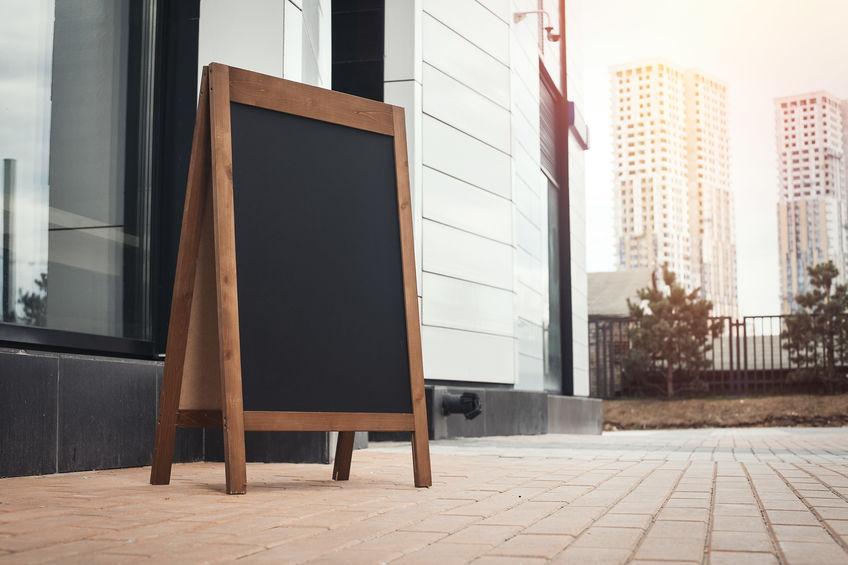 outdoor sandwich board signs